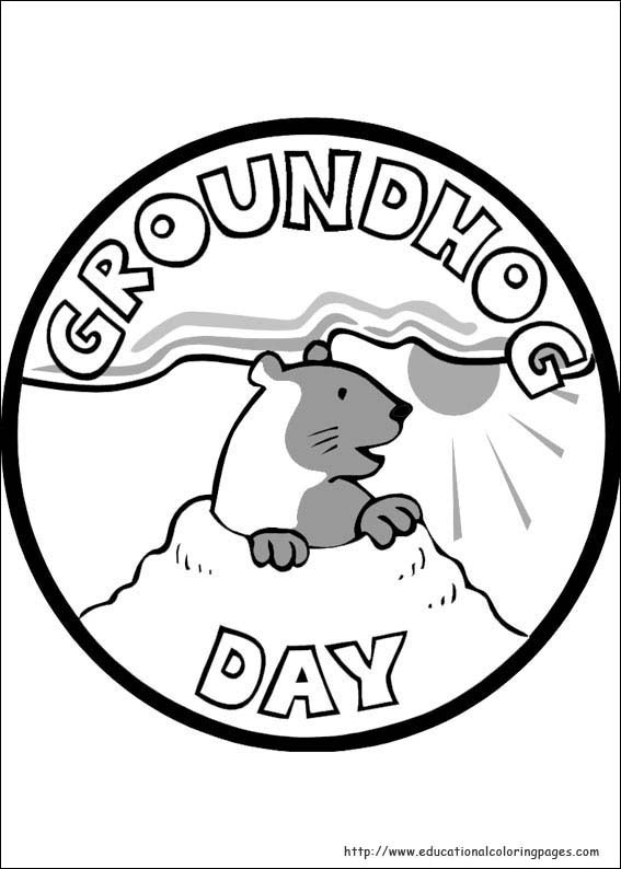 groundhog day coloring pages educational fun kids coloring pages and preschool skills worksheets