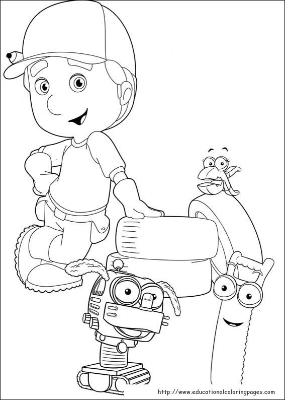 handy manny coloring pages educational fun kids coloring pages and preschool skills worksheets - Handy Manny Colouring Pages