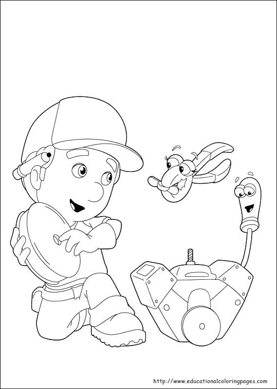 Handy Manny Coloring Pages Educational