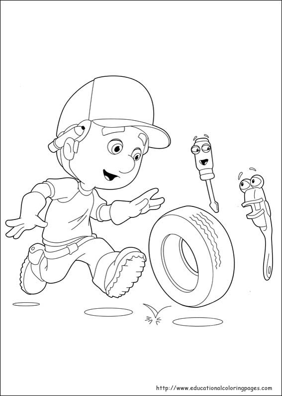 top 25 printable handy manny coloring pages - Handy Manny Hammer Coloring Pages