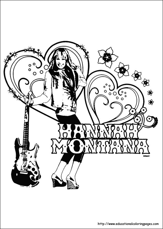hannah montana coloring pages educational fun kids coloring pages and preschool skills worksheets - 123 Coloring Pages