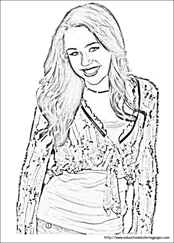 Hannah Montana Coloring Pages - Educational Fun Kids Coloring ...