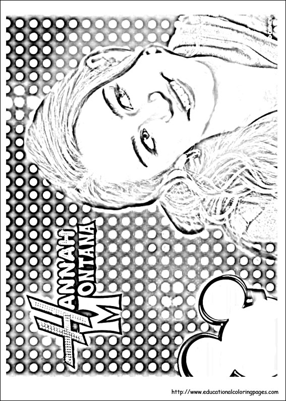 hannah montana coloring pages educational fun kids coloring pages