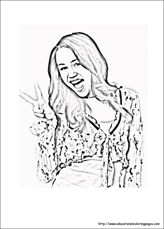 Hannah Montana Coloring Pages Educational Fun Kids
