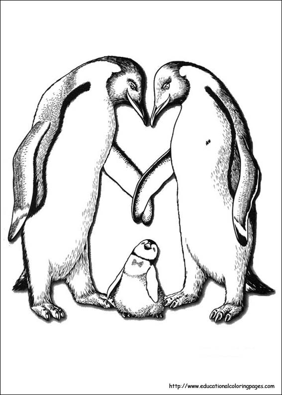 Happy Feet Coloring Pages Educational Fun Kids Coloring