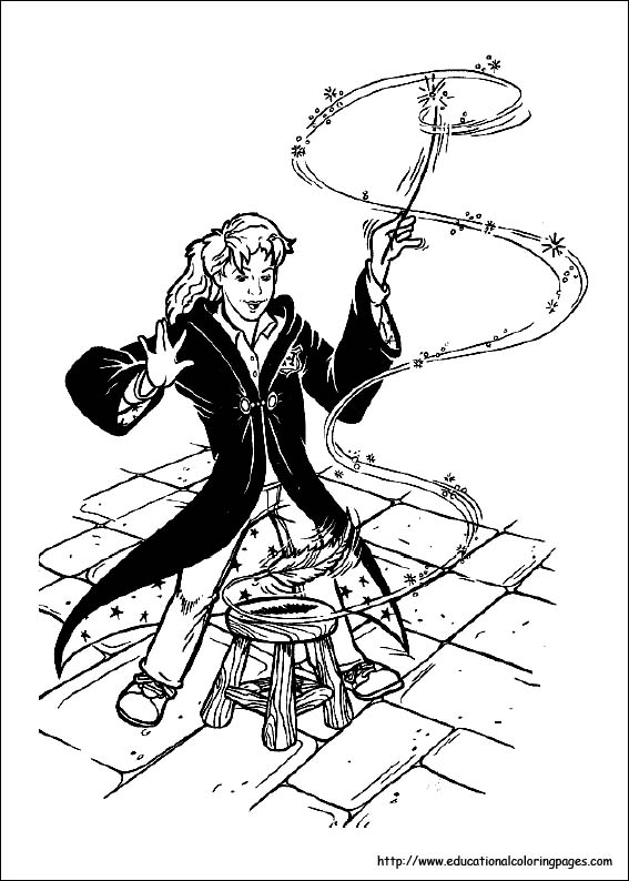 Harry Potter Coloring Pages Educational