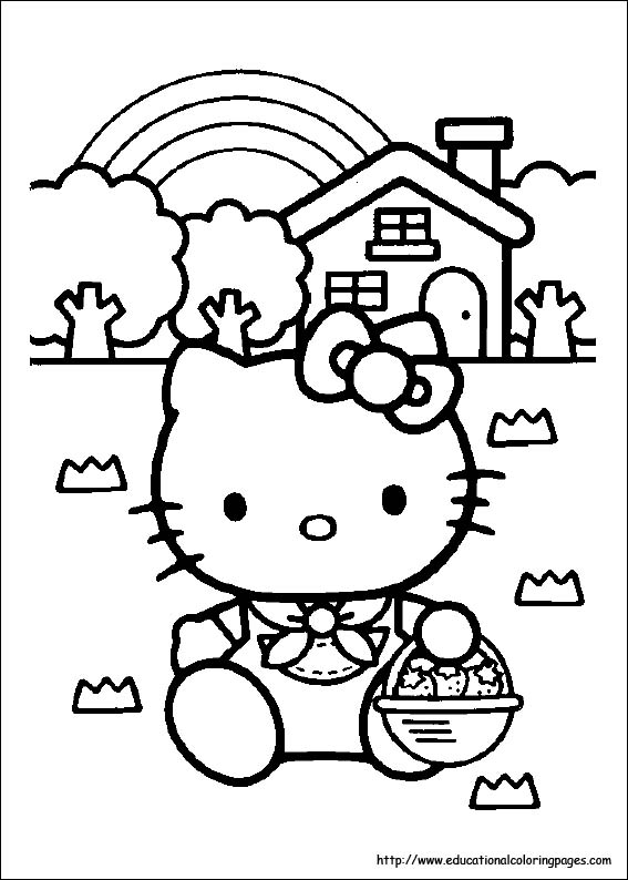 Kitty Coloring Pages free For Kids