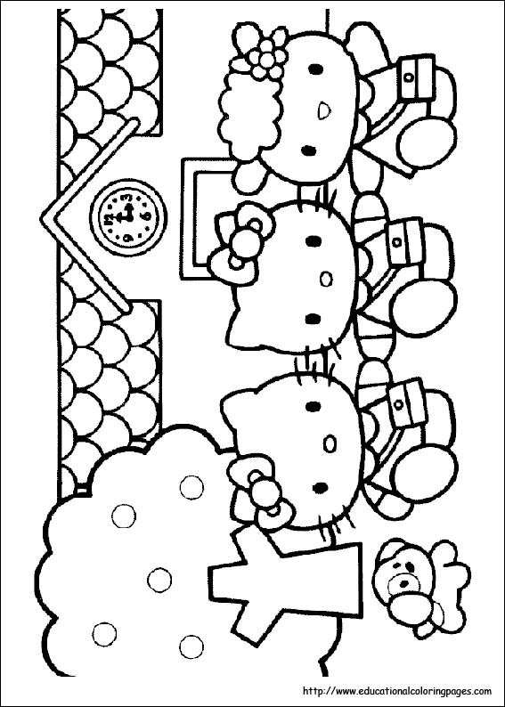 hello kitty coloring pages free for kids - Colouring Pages Of Hello Kitty