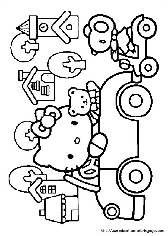 Hello Kitty Coloring Pages Free For Kids