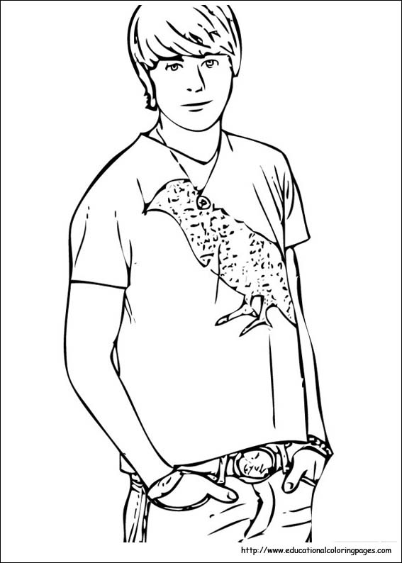 High School Musical Educational Fun Kids Coloring Pages