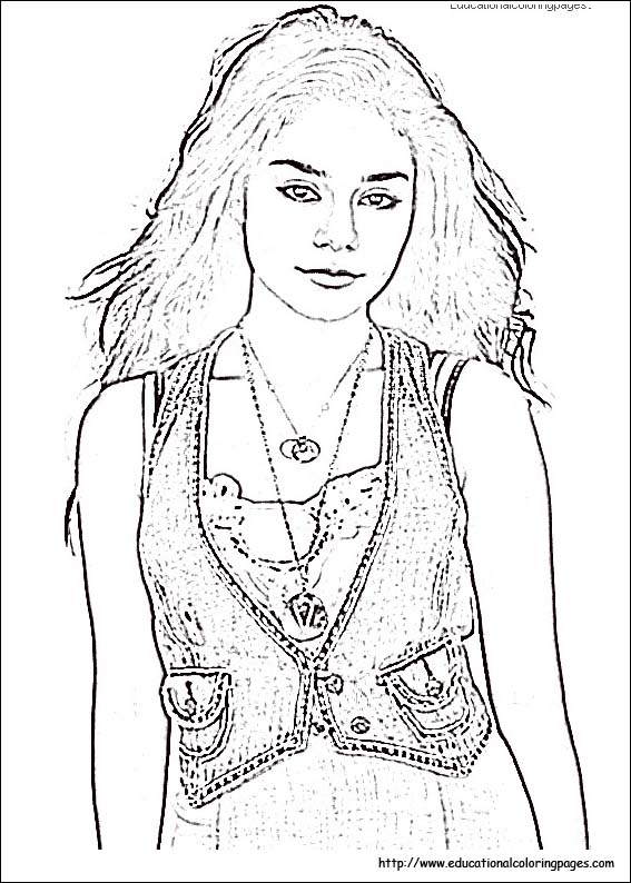 high scholl musical coloring pages - photo#21