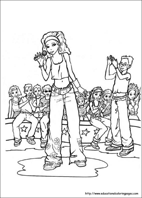 high scholl musical coloring pages - photo#25