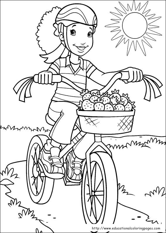holly hobbie coloring pages - photo#24