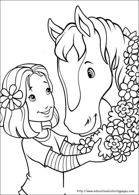 Holly Hobbie Coloring Pages Educational Fun Kids