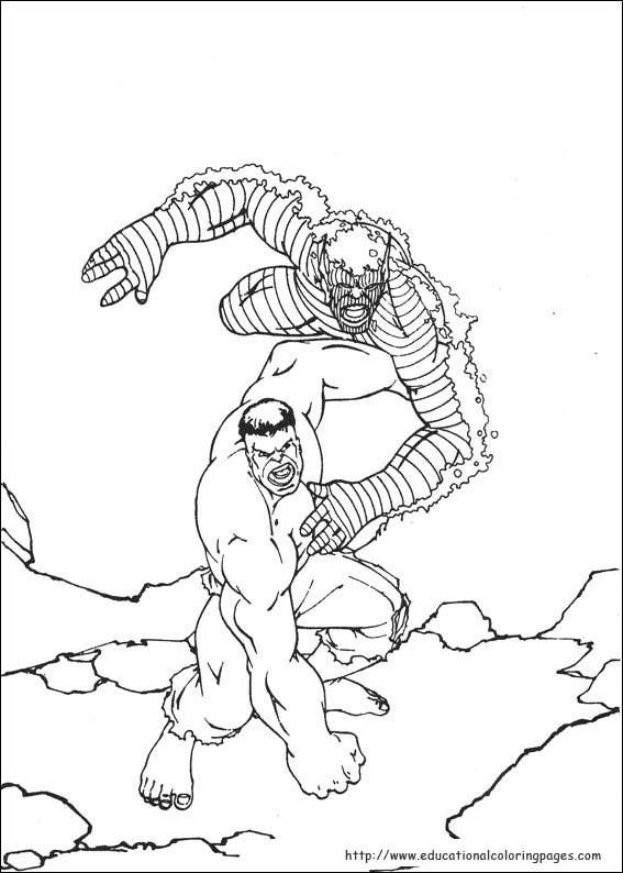 Hulk Educational Fun Kids Coloring Pages And Preschool