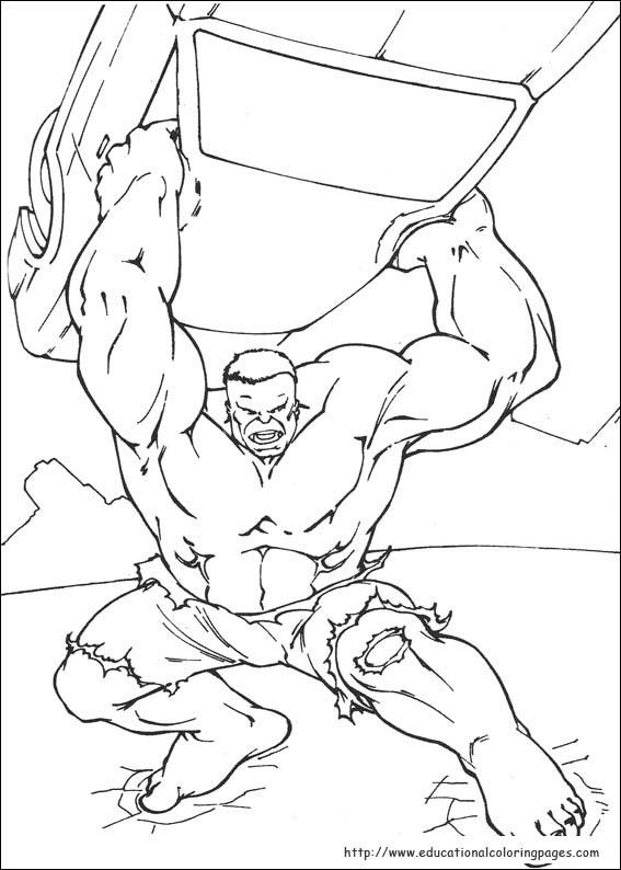 Hulk  Educational Fun Kids Coloring Pages and Preschool Skills