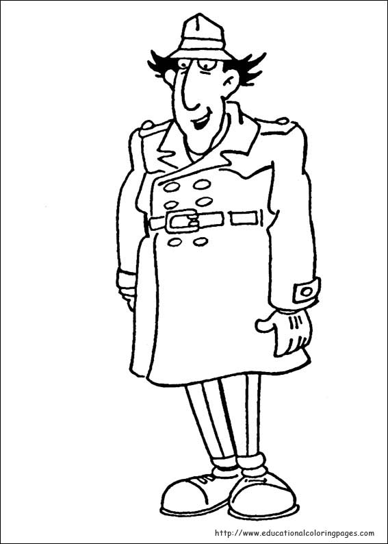 Inspector Gadget Coloring Pages Educational Fun Kids