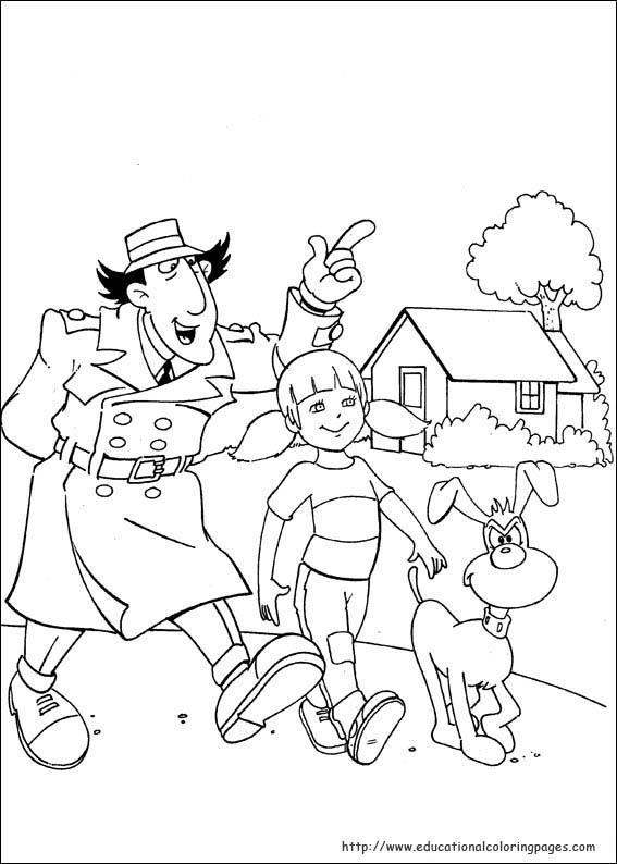 inspector gadget coloring pages - photo#3