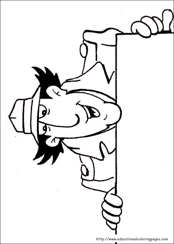 Inspector gadget coloring pages educational fun kids for Stampe da colorare spiderman