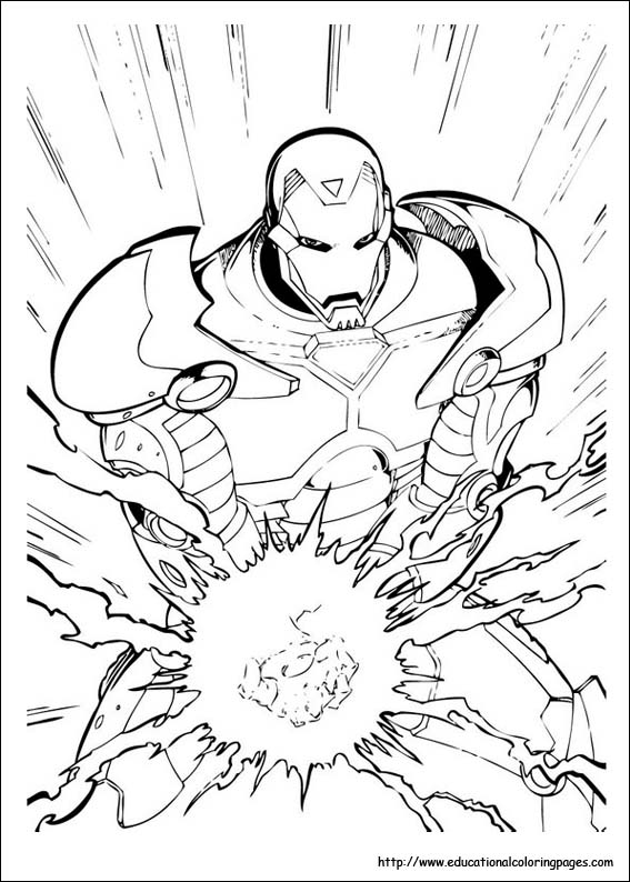 Iron man coloring pages free for kids for Ironman coloring pages free