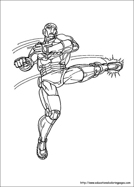 Iron man Coloring Pages free For