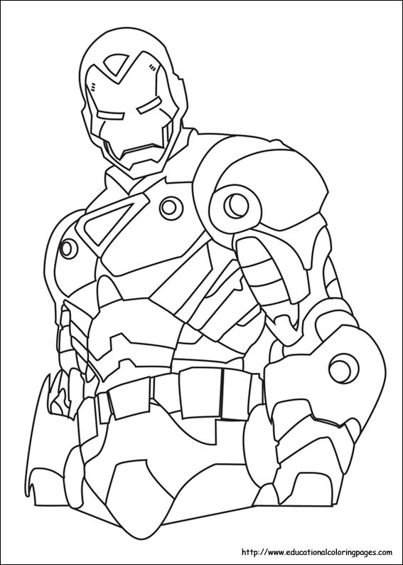 Iron Man Coloring Book Games : Iron man coloring pages free for kids