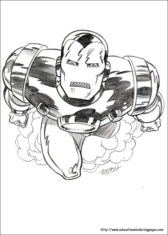 iron man coloring pages free for kids - Iron Man Coloring Pages Mark