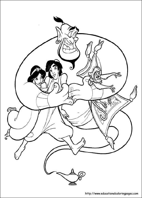 Jasmin Coloring Pages Free For Kids