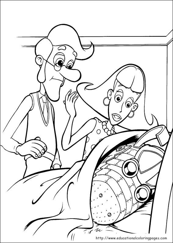 jimmy nuetron printable coloring pages - photo#27