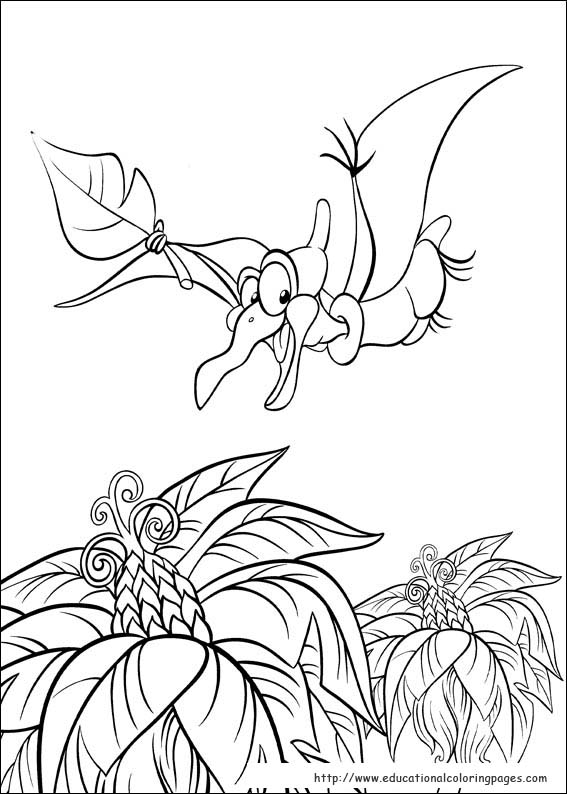 Land Before Time Coloring Educational Fun Kids Coloring The Land Before Time Coloring Pages