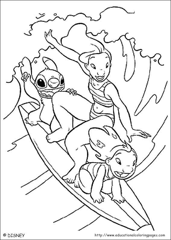 Lilo And Stitch Coloring - Educational Fun Kids Coloring Pages and ...