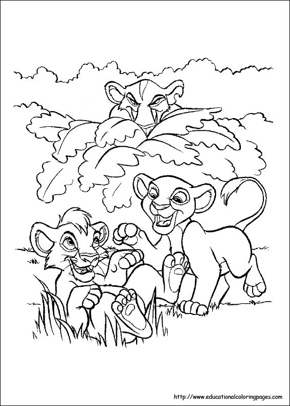 Lion King Pride Rock Coloring Pages Sketch Coloring Page