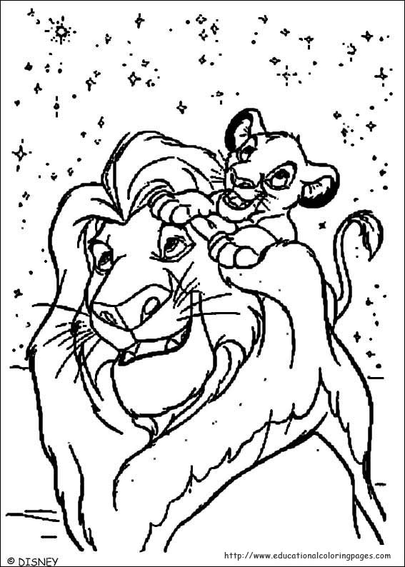 The lion king coloring sheets educational fun kids for Lion king christmas coloring pages