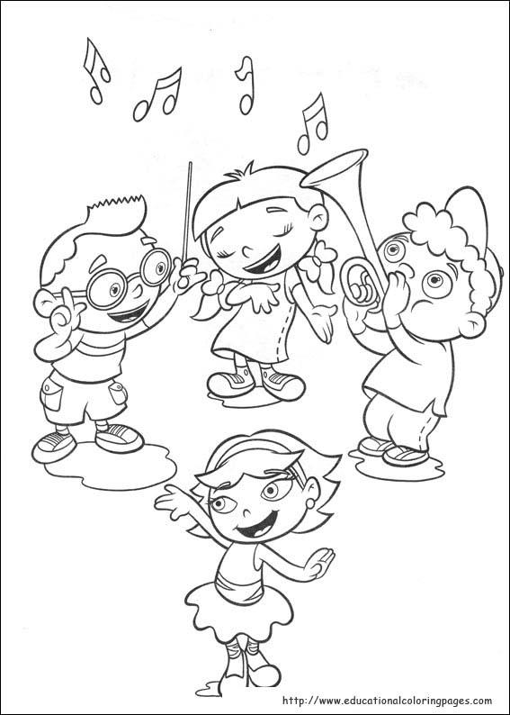 Little Einsteins Coloring Pages Educational Fun Kids Coloring