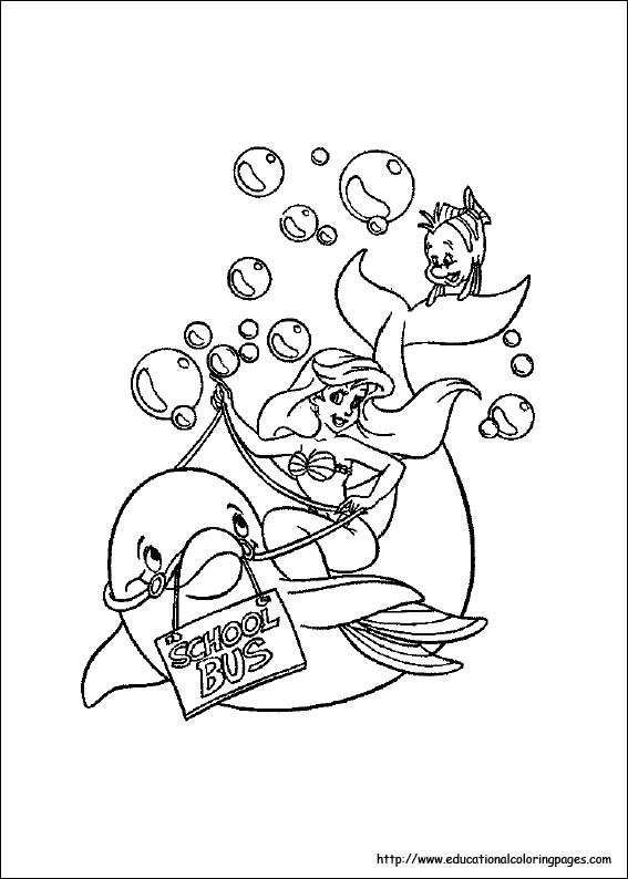 Little Mermaid Coloring Pages Free For Kids