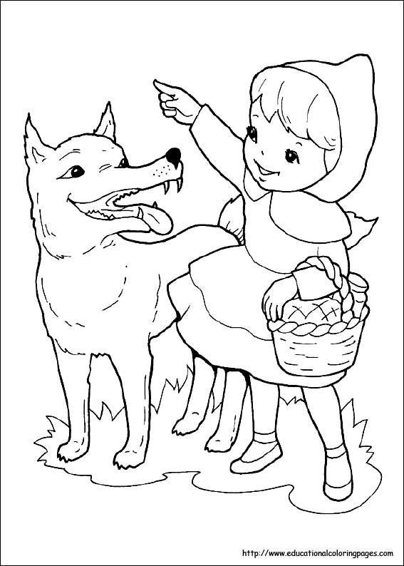 red riding hood coloring pages - photo#3