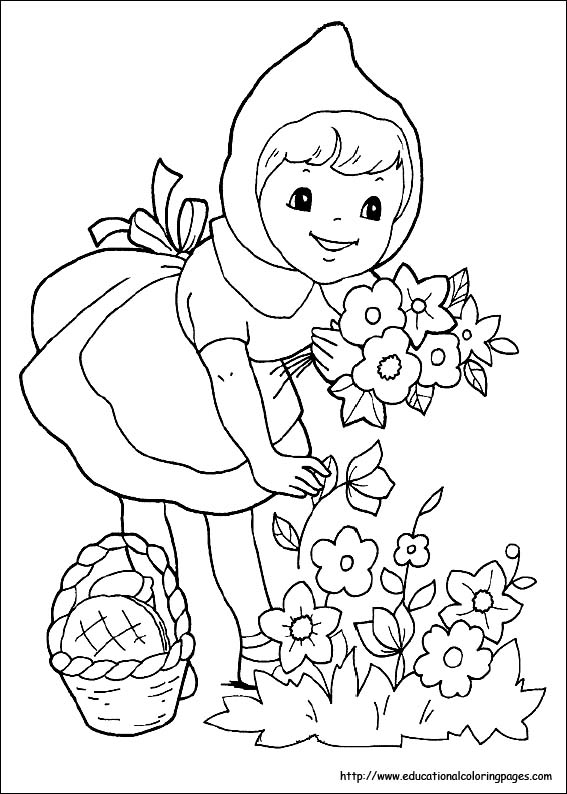 red riding hood coloring pages - photo#2