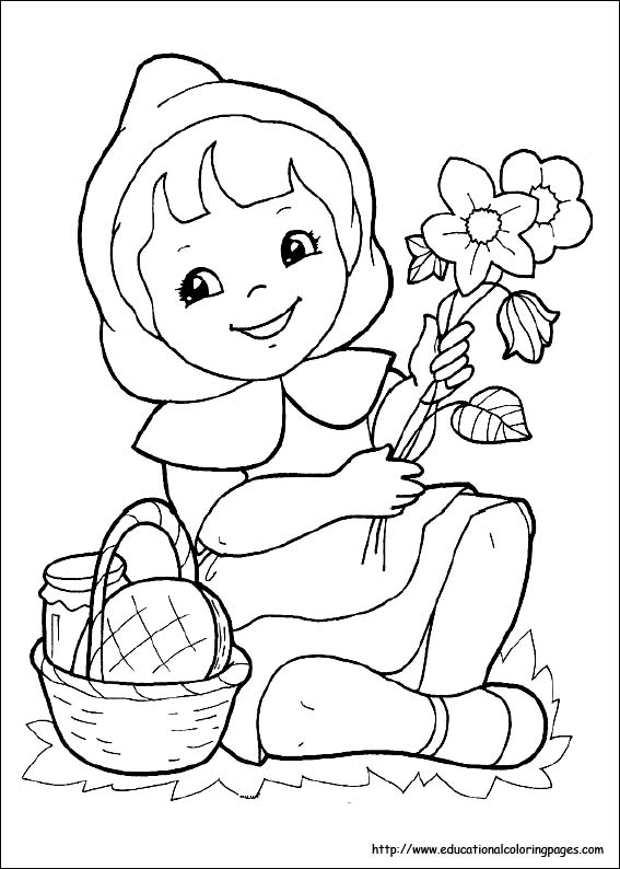 red riding hood coloring pages - photo#1