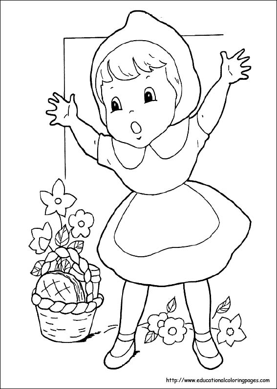 red riding hood coloring pages - photo#25
