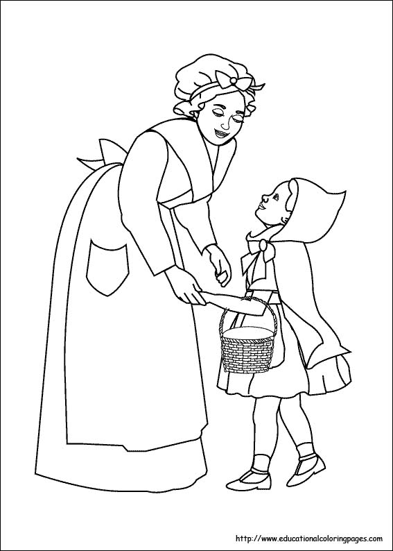 red riding hood coloring pages - photo#21