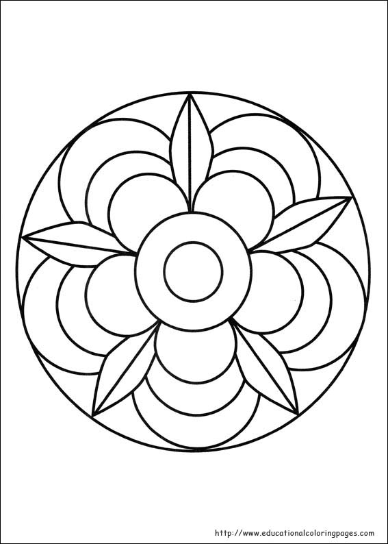 Gallery For gt Simple Mandalas Kids