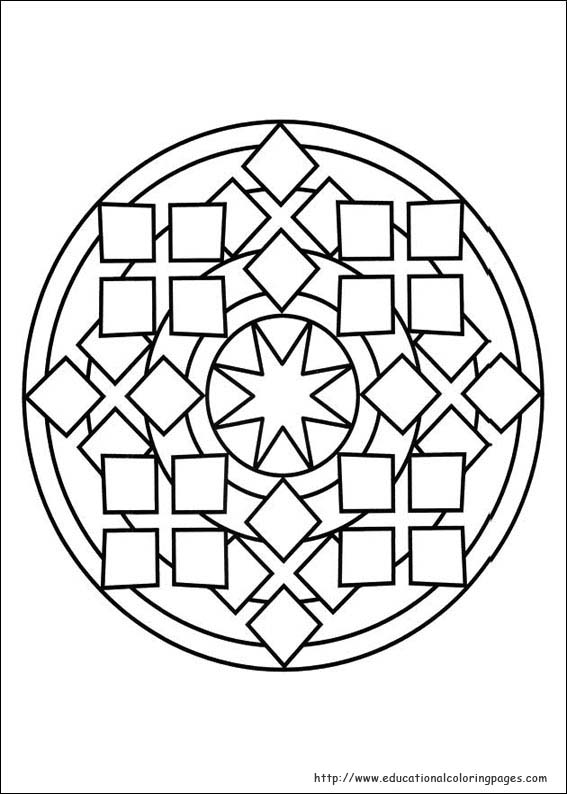 Mandalas Coloring Pages free For