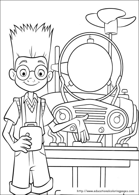 Meet the Robinsons Coloring Educational