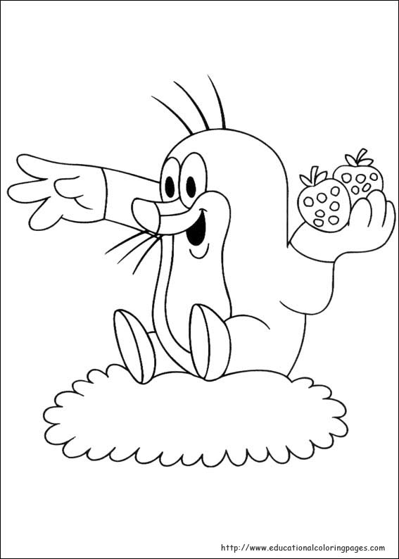 Mole 04 Educational Fun Kids Coloring Pages And Preschool Skills