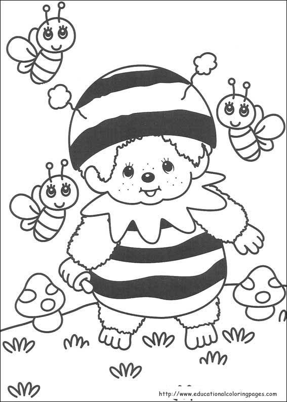 monchichi coloring pages - photo#10