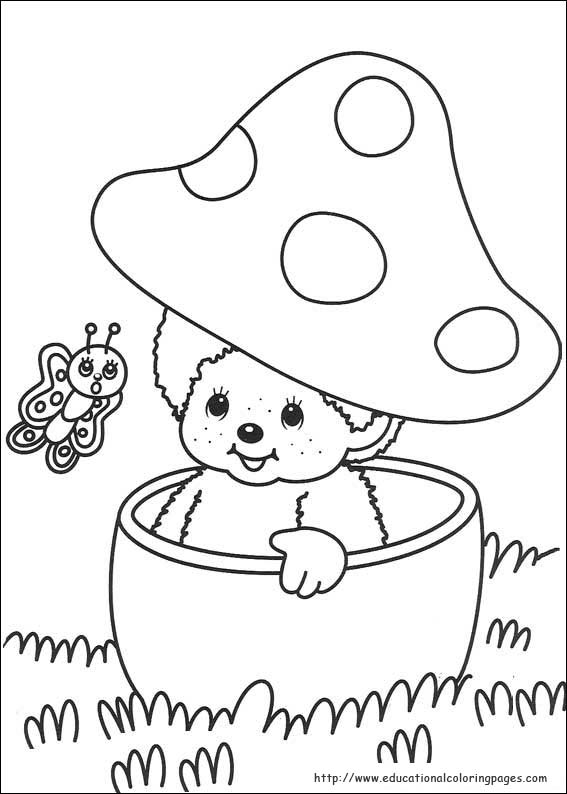 monchichi coloring pages - photo#8
