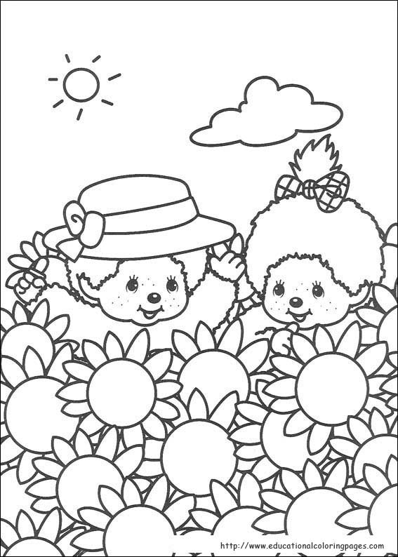 Monchhichi Coloring Pages Educational Fun Kids Coloring