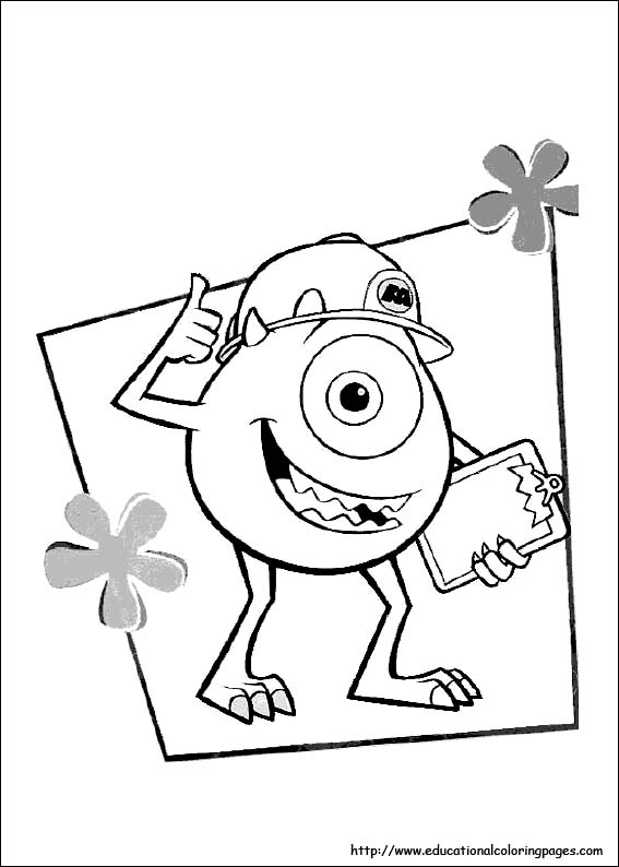 Monster Inc Coloring - Educational Fun Kids Coloring Pages and ...