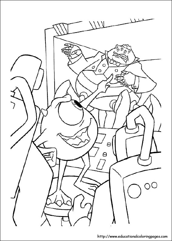 monsters inc coloring pages preschool - photo#35