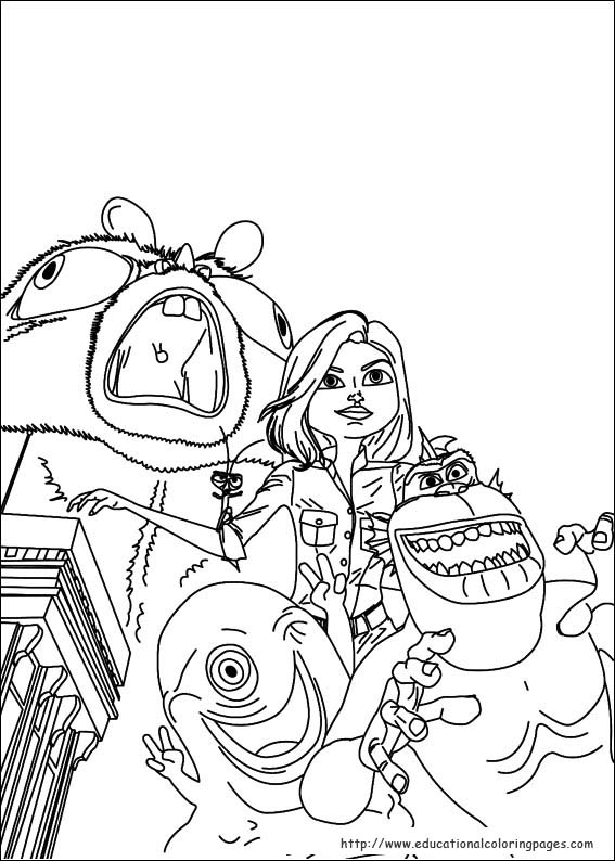 Monsters Aliens Coloring Educational